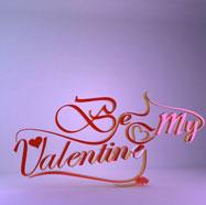 情人节立体字3D模型