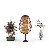 3D现代装饰台灯模型