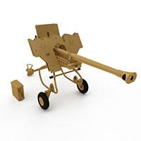 40型128毫米防空炮模型
