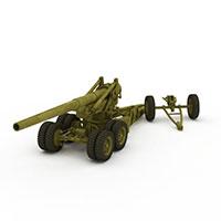 155m高射炮模型