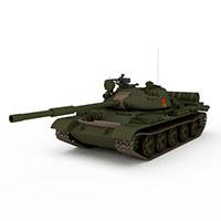 苏联T62A中型坦克模型
