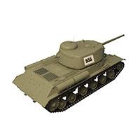 苏联KV-1S重坦克模型