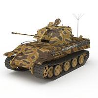 迷彩谢尔曼III型坦克模型