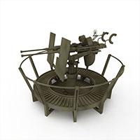 厄利康高射炮模型