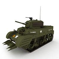 扫雷坦克模型