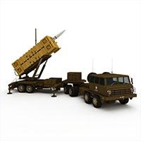军用导弹发射装置模型