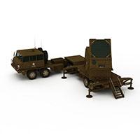 军用导弹发射车模型