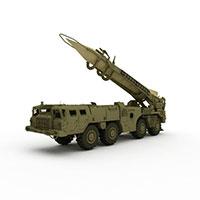 中国导弹发射车模型