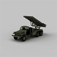 导弹发射车辆模型