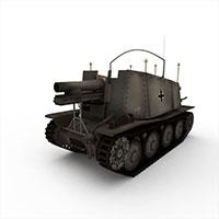 苏联SU-5自行火炮模型
