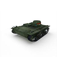 苏联T-60轻坦克模型