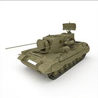 军用通信坦克模型