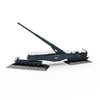 利奥波德列车炮模型