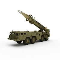 中国军事导弹车模型