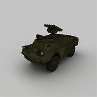 防空导弹车模型