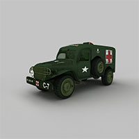 军用医护车模型