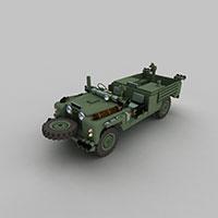 军队越野车模型