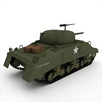 中国M5A1轻型坦克模型