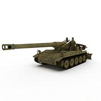 反坦克大炮模型