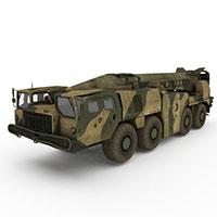 迷彩导弹车模型