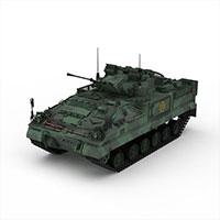 迷彩军用坦克模型