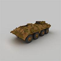 迷彩防暴装甲车模型