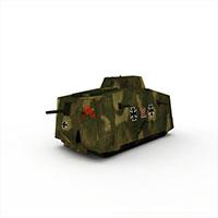 迷彩堡垒装甲车模型