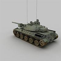 中国WZ111重型坦克模型