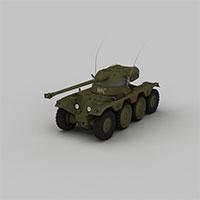 作战坦克模型