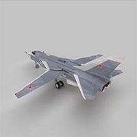 苏24击剑手轰炸机模型