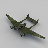 FK189轰炸机模型
