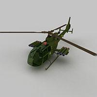 GAZELLE直升战斗机模型