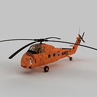 HUS1直升战斗机模型