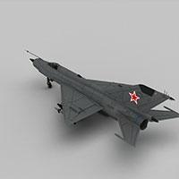 mig21战斗机模型