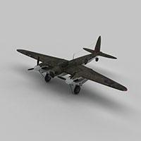 mosquitob战斗机模型