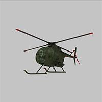 OH6A直升战斗机模型