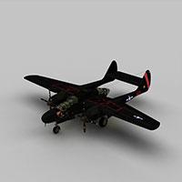 P61b战斗机模型