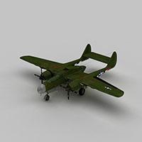 P61夜间战斗机模型