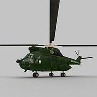 Puma直升战斗机模型