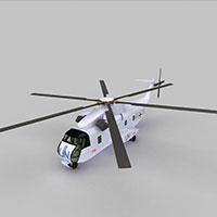SIKORSKY武装直升机模型