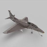 SKYHAWK战斗机模型