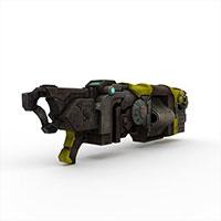 未来科幻手枪模型