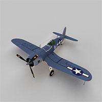 二战单翼战斗机模型
