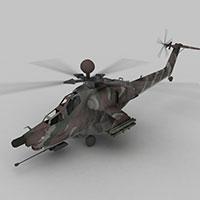 武装直升机模型
