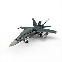 美国F18战斗机模型
