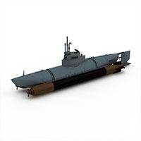BIBER潜艇模型