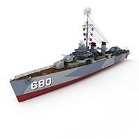 FLETCHER军舰模型