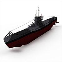 u-tVIIb潜艇模型