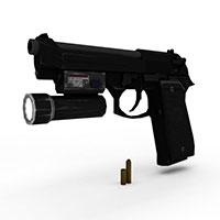 战术手枪模型