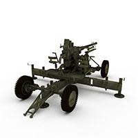 固定式重机枪模型